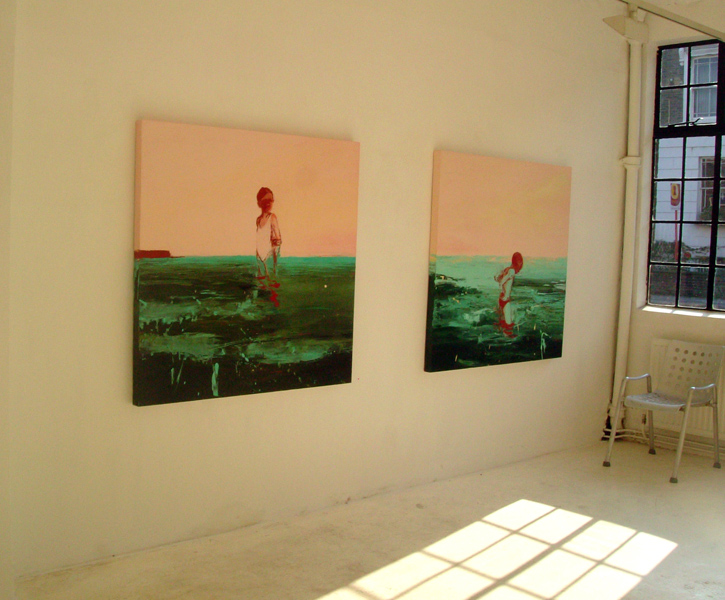 Beach Paintings, installation