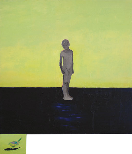 Bird Boy, 2011, Oil on canvas, 140 x 122cm