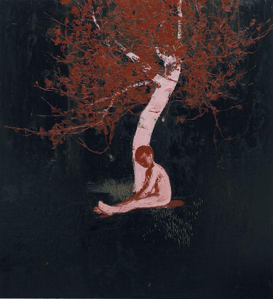 Boy Beneath Night Blossom, 2006, Oil on canvas, 183 x 168cm