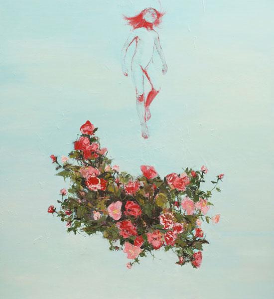 Girl Ascending, 2010, Oil on canvas, 183 x 168cm