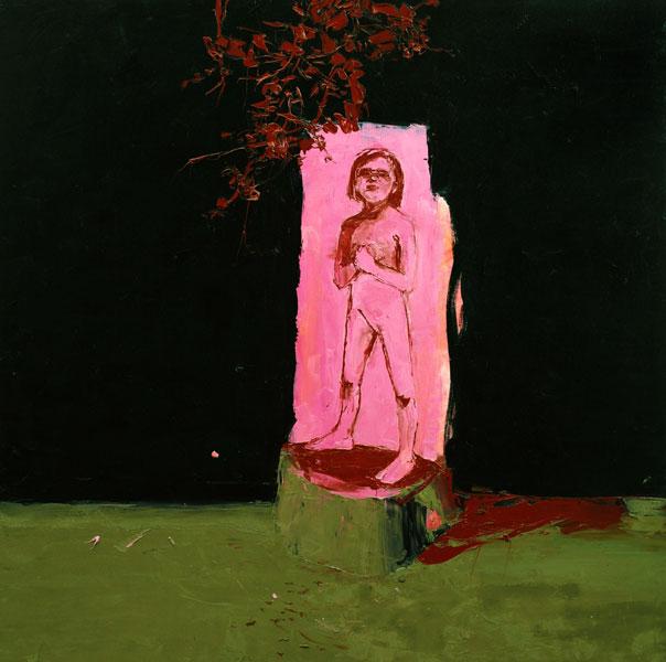 Magenta Girl, 2006, Oil on canvas, 122 x 122cm