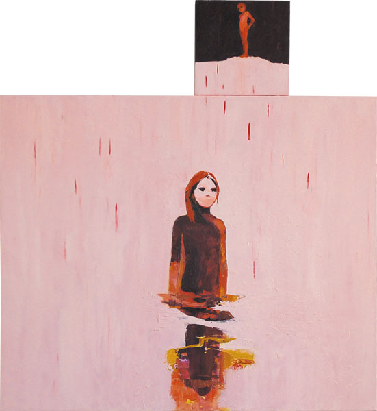 Red Rain Horizon, 2011, Oil on canvas, 130 x 120cm