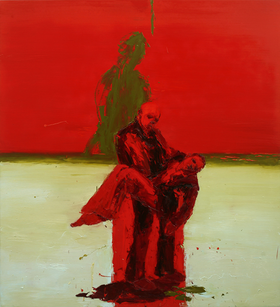 Battle Blood, 2007, Oil on canvas, 183 x 168cm