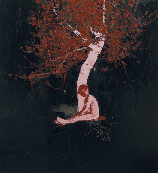 Boy Beneath Night Blossom, 2006, Oil on canvas, 183 x 168cm