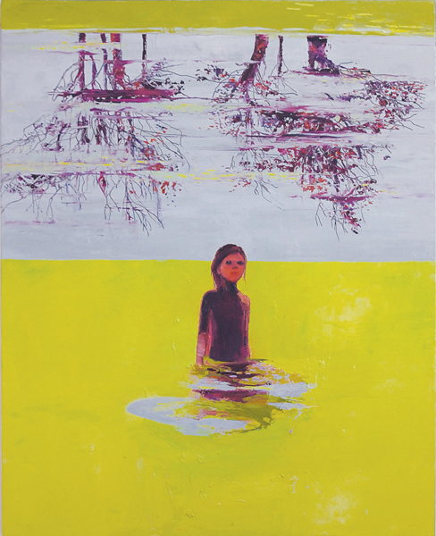 Lemon Lake, 2011, Oil on canvas, 150 x 120cm