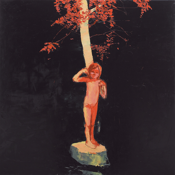 Night Blossom Girl, 2006, Oil on canvas, 152.5 x 152.5cm