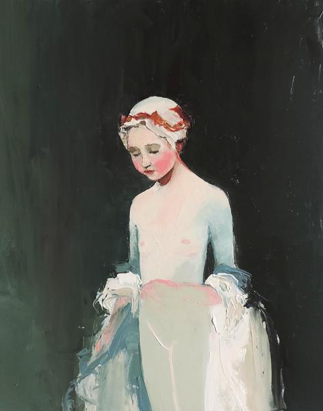 Unstitched Seams, 2013, Oil on canvas, 50cm x 40cm